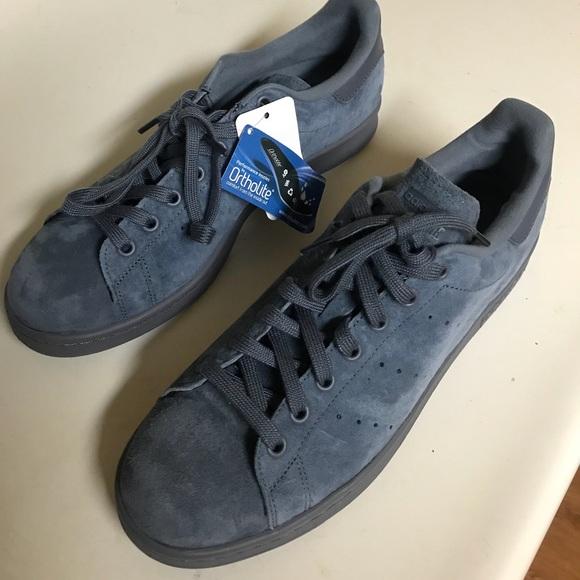 Adidas Stan Smith suede light blue NWT  Schlussverkauf